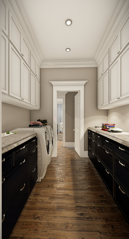 Laundry Hall by DFD House Plans