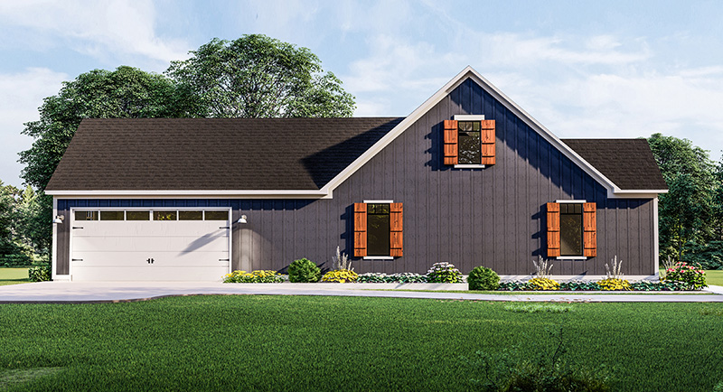 Left Side Elevation image of Blueberry Ridge House Plan