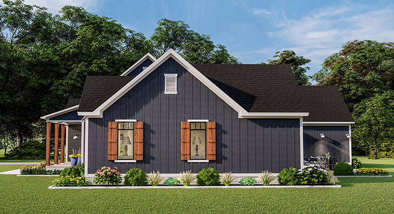 Right Side Elevation image of Blueberry Ridge House Plan