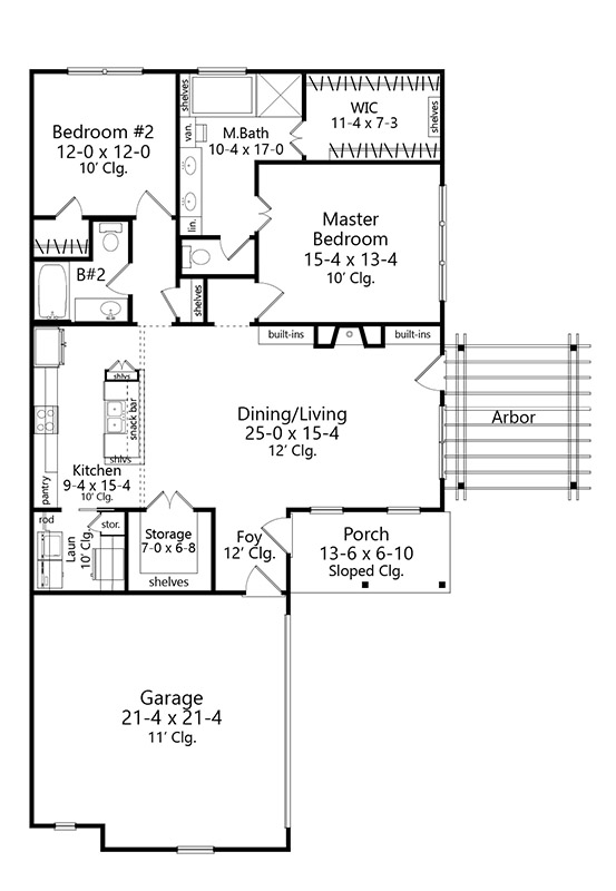 Floor Plan image of JoAnna House Plan
