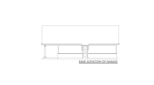 Garage Rear Elevation by DFD House Plans