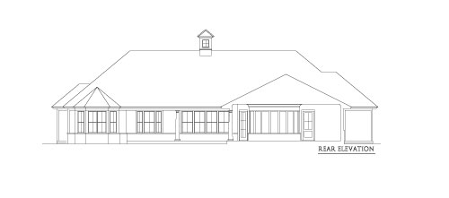 Rear Elevation 2 by DFD House Plans