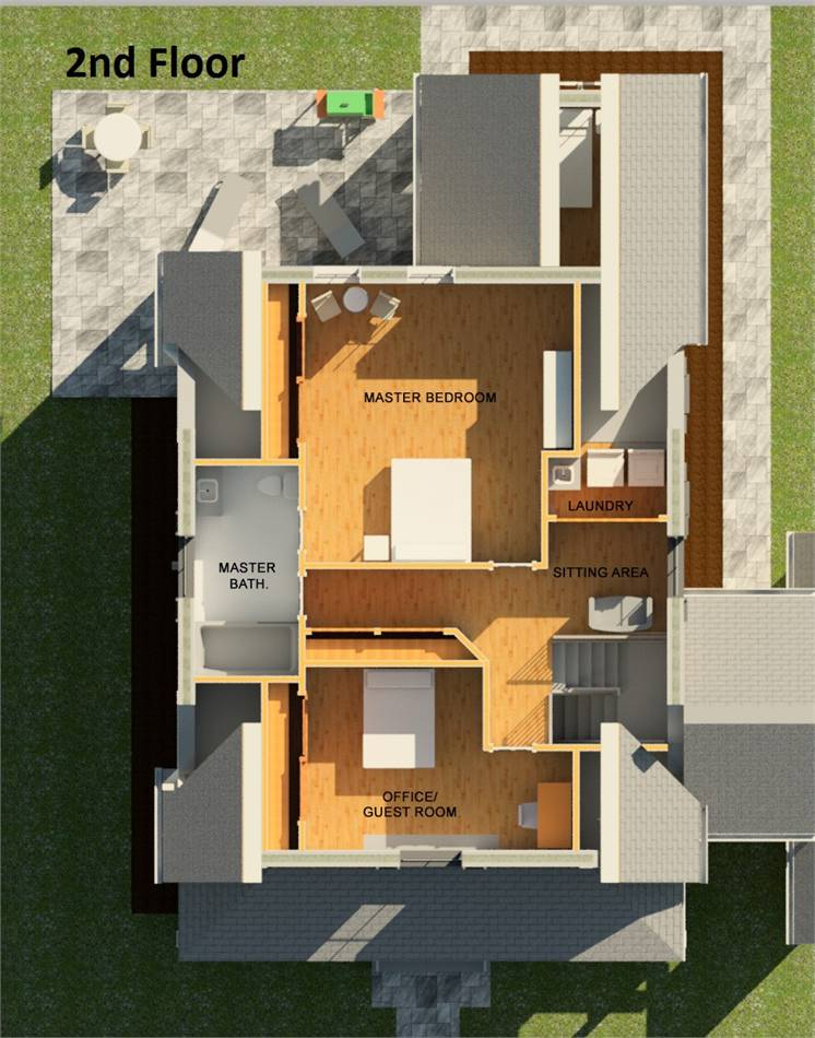 Plan With 3 Bedrooms And 2 5 Baths