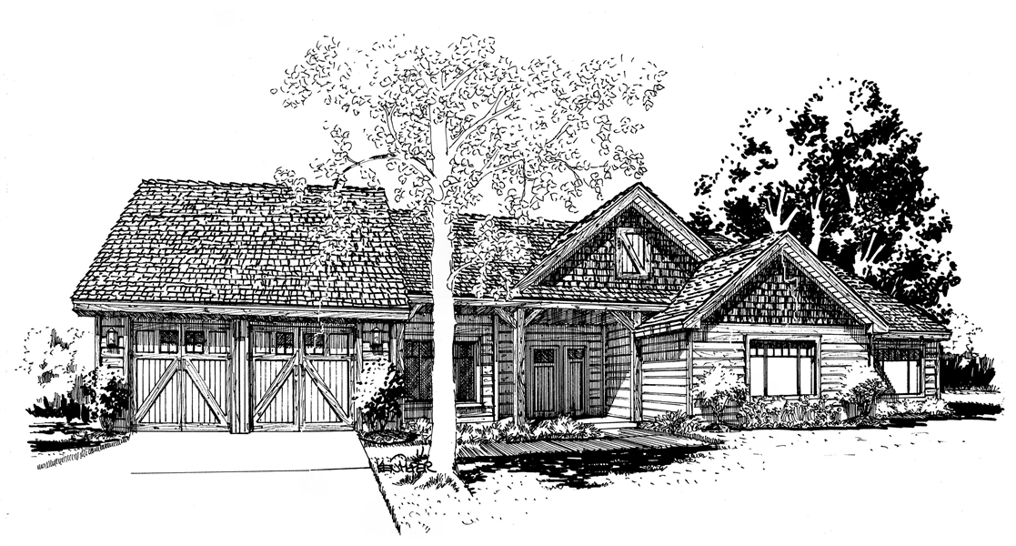 Front View image of The Cherokee II House Plan