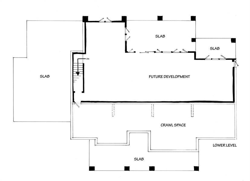 Lower Level Floor Plan image of Meadowlark House Plan