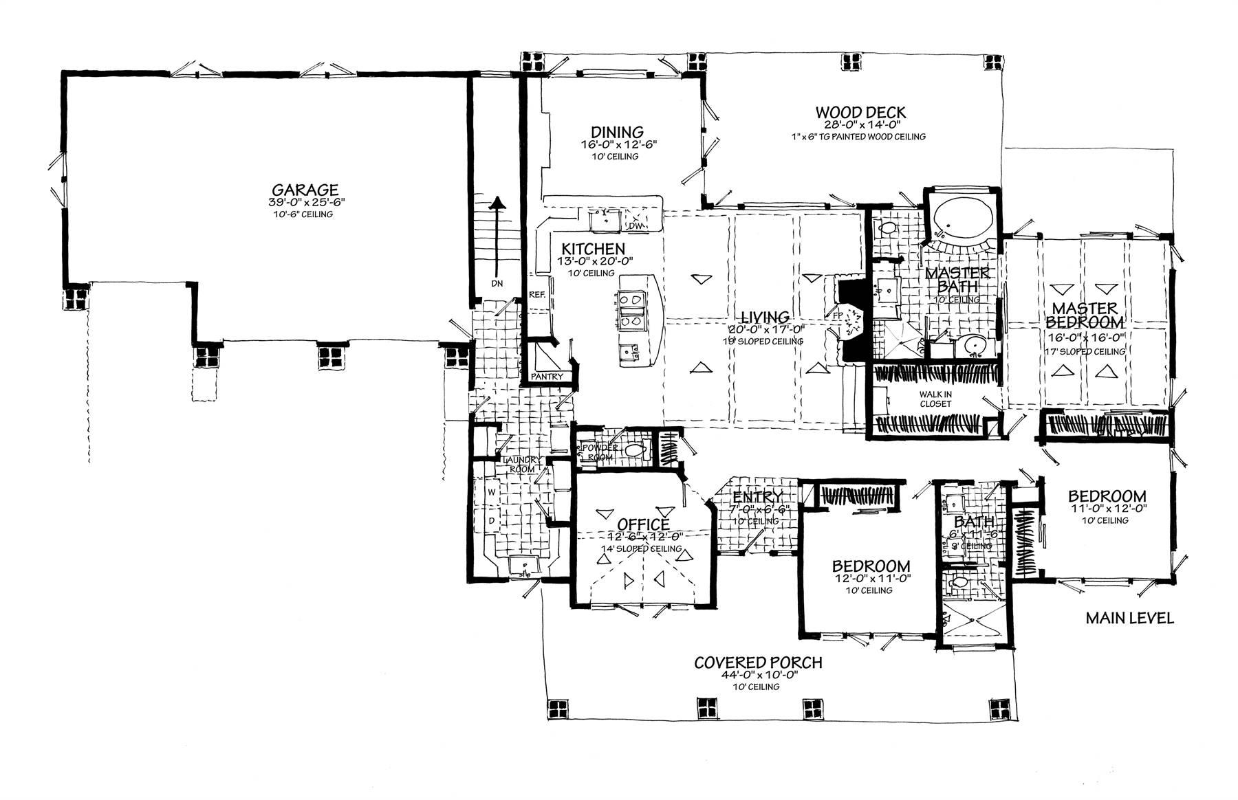 1st Floor Plan image of Meadowlark House Plan