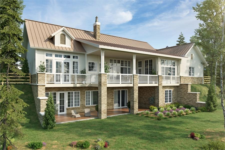 Rear Rendering image of Meadowlark House Plan