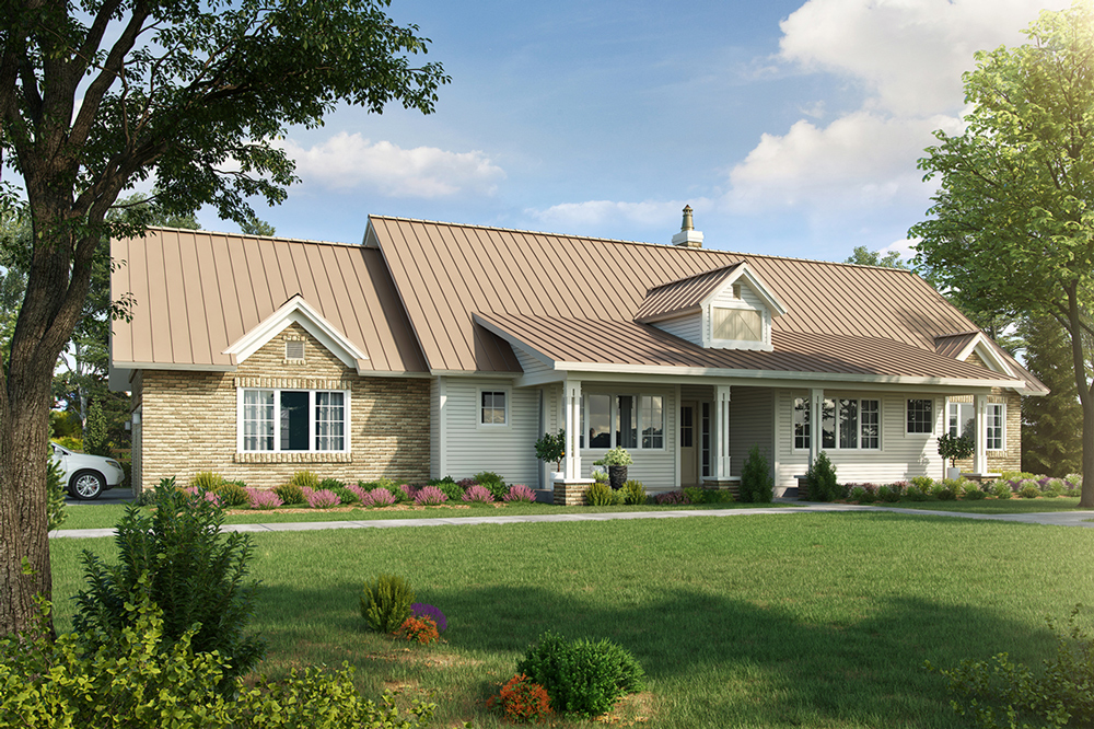 Front View image of Meadowlark House Plan
