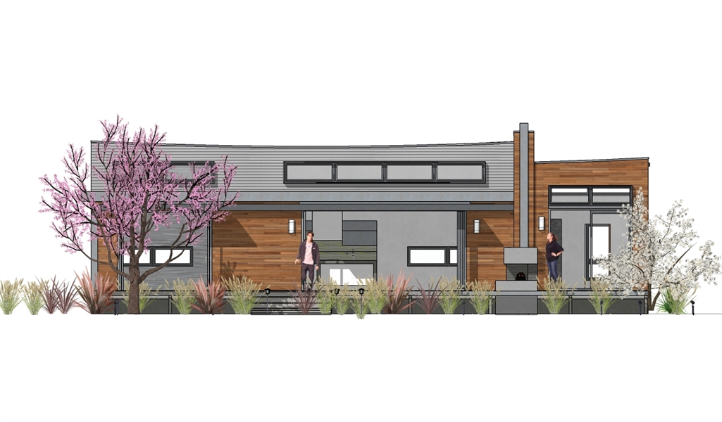 FRONT ELEVATIOIN image of Hummingbird-H2 House Plan