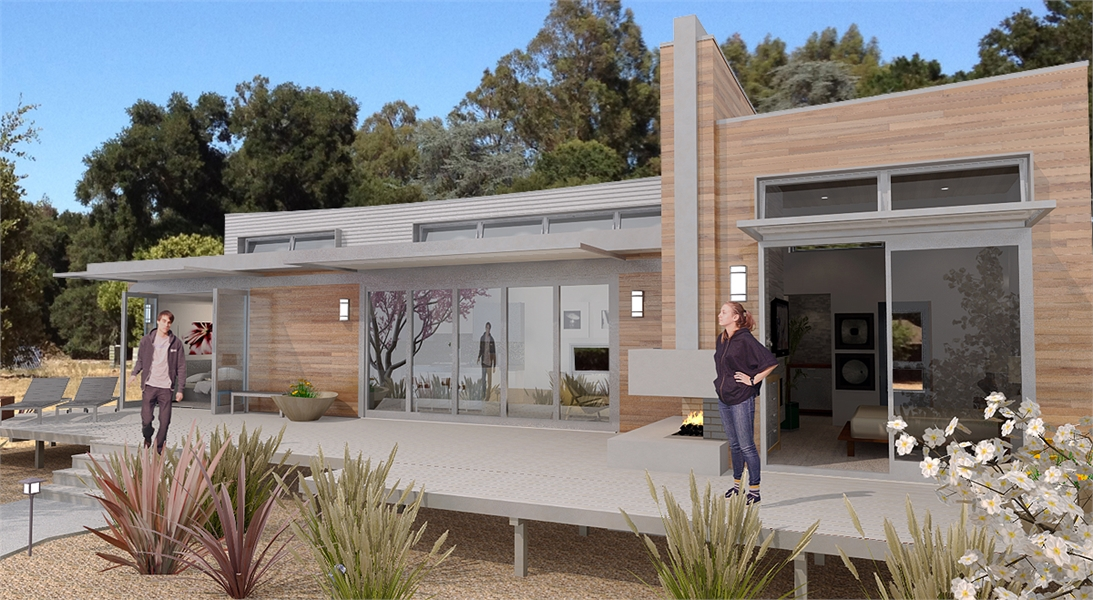 FRONT PERSPECTIVE image of Hummingbird-H2 House Plan