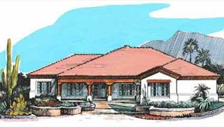 Luxury Tuscan House Plans by DFD House Plans