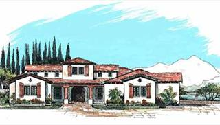 Tuscan Style Home Plans by DFD House Plans