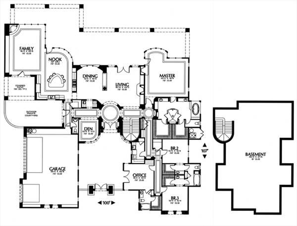 Mediterranean House Plan With 3 Bedrooms And 3 5 Baths