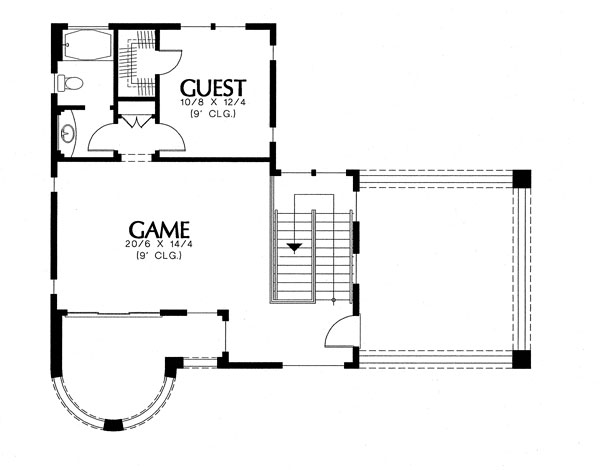 2nd Story by DFD House Plans