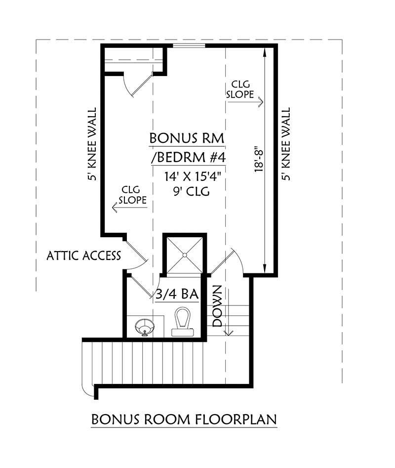 Bonus Plan by DFD House Plans