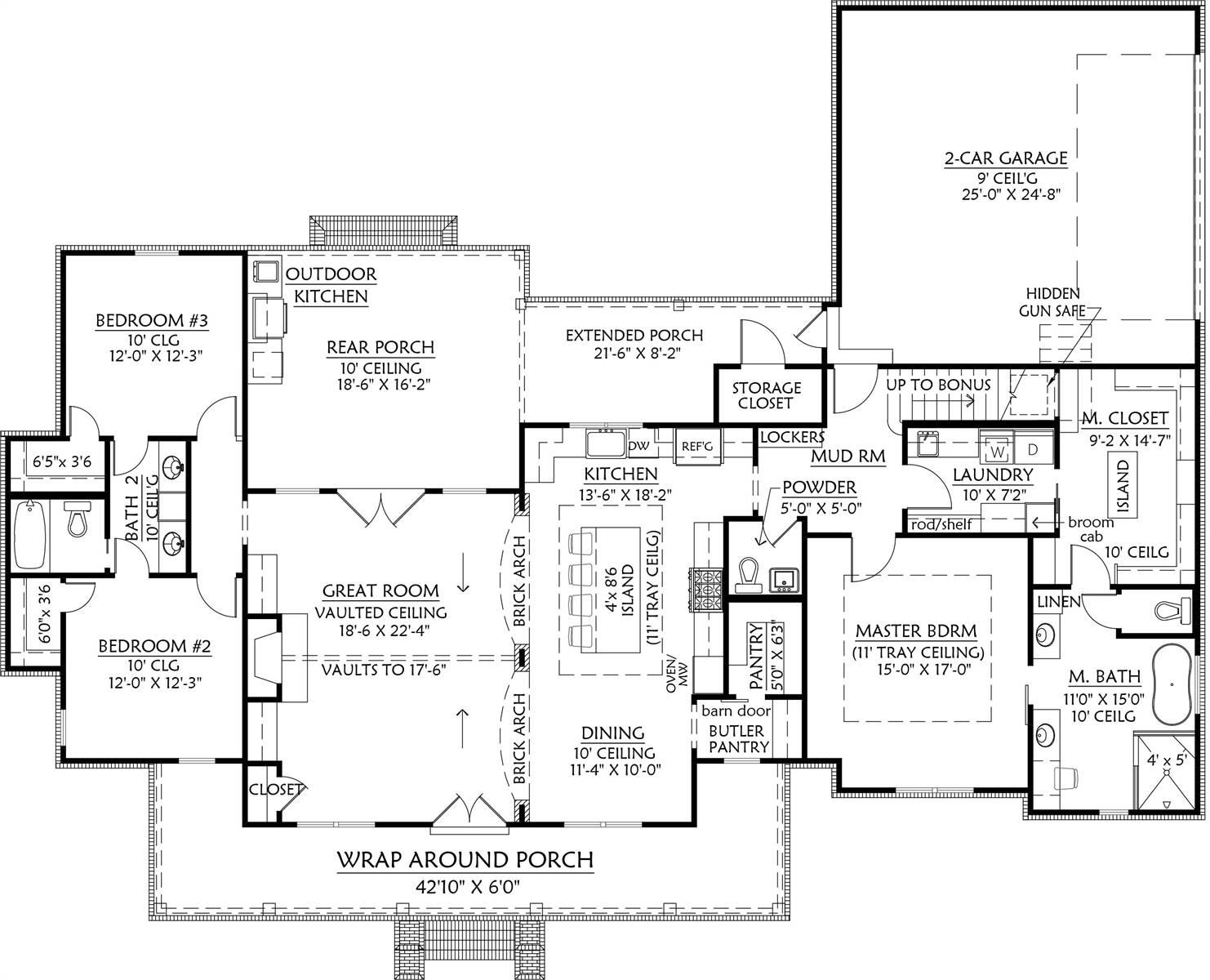 2-Car Garage Plan by DFD House Plans
