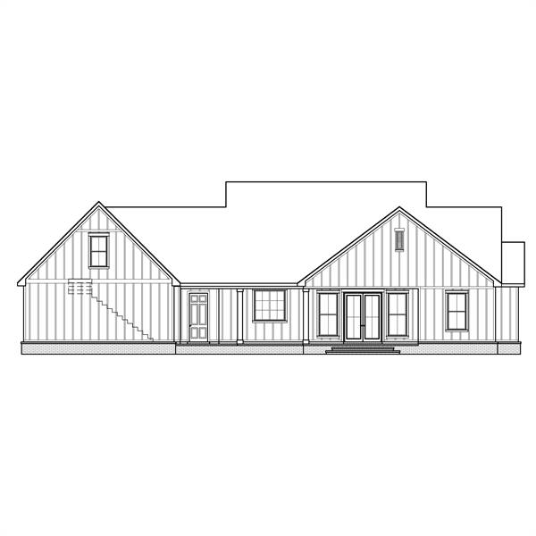 Rear Garage by DFD House Plans