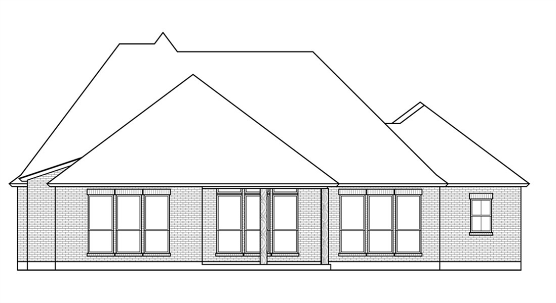 Rear View image of The Oak Grove House Plan