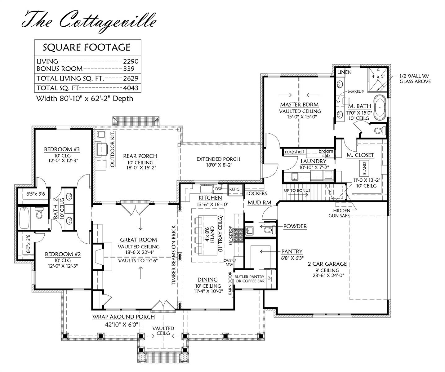 1st Floor image of Cottageville House Plan