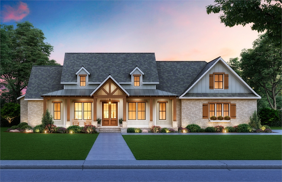 Front View image of Cottageville House Plan