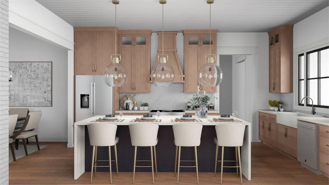 Kitchen image of Cottageville House Plan