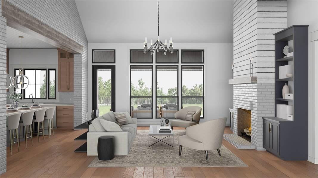Living Room image of Cottageville House Plan