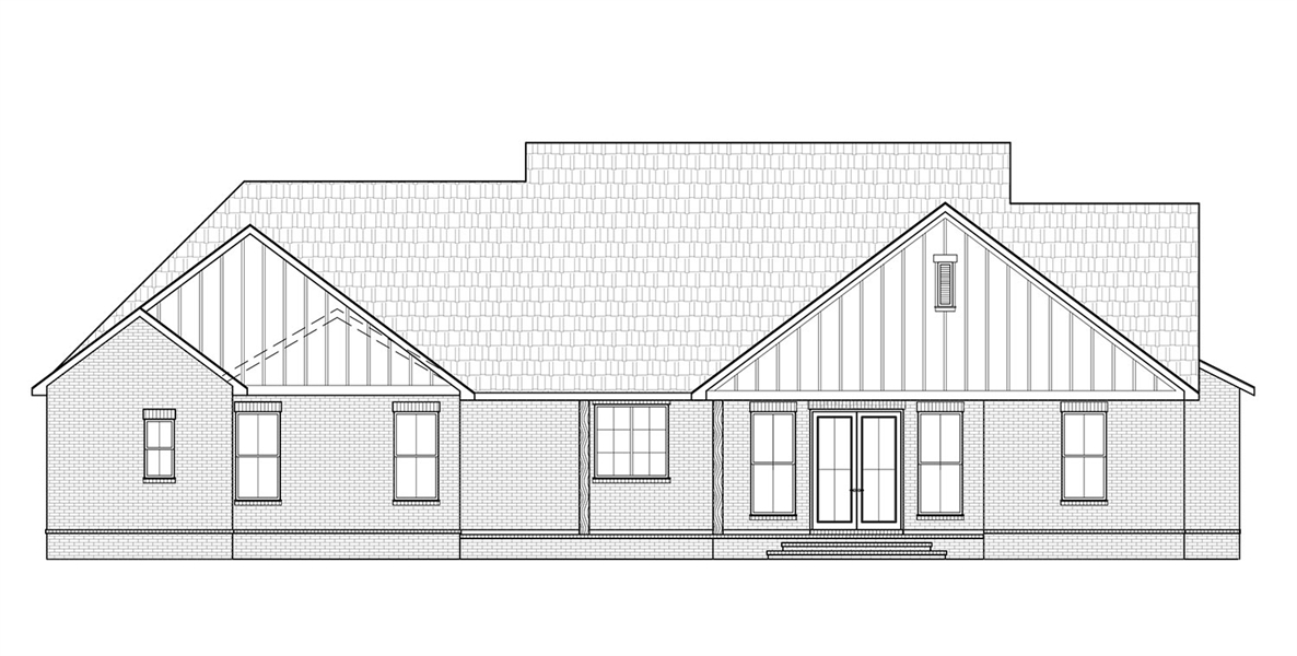 Rear View image of Cottageville House Plan