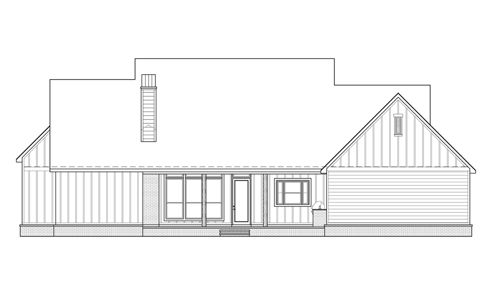 Rear Elevation image of Black Creek House Plan