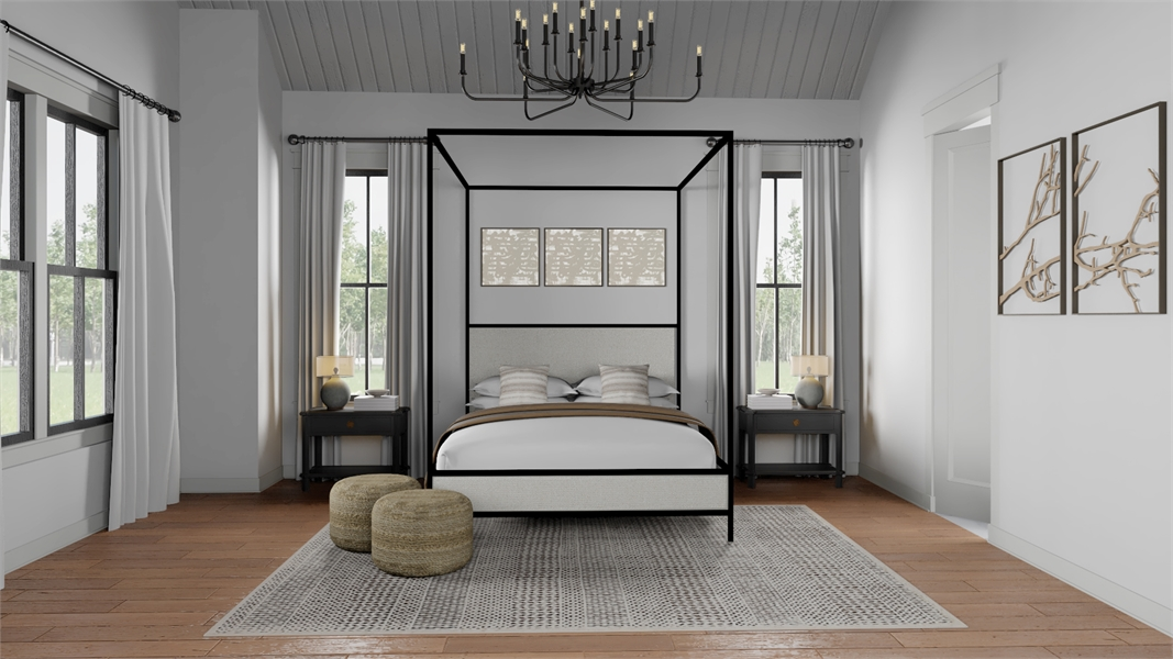 Master Bedroom image of Black Creek House Plan