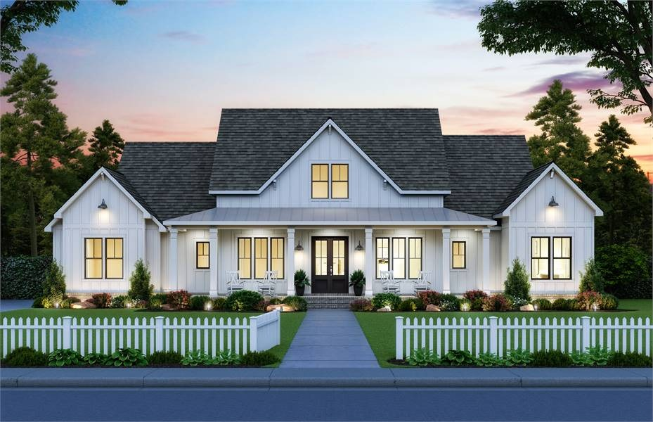 Front View image of Black Creek House Plan