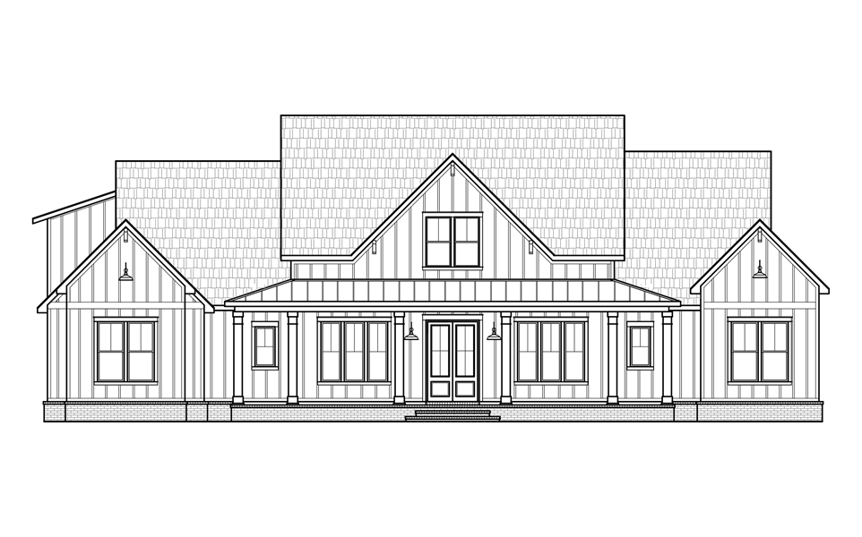 Front Elevation image of Black Creek House Plan