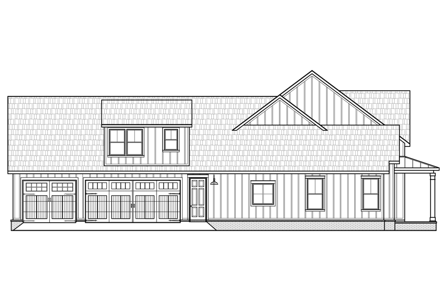 Left Elevation image of Black Creek House Plan