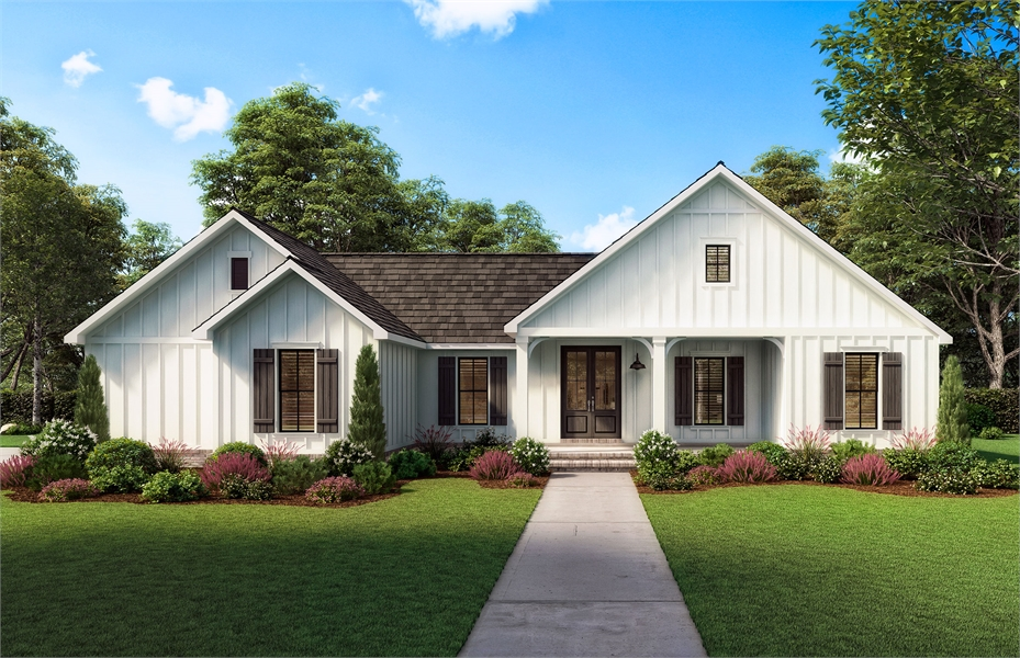 Front View image of The Spruce Pine House Plan
