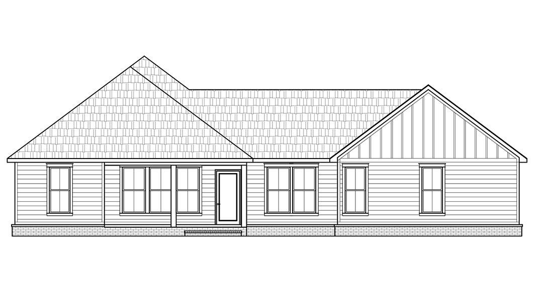 Rear Elevation image of The Spruce Pine House Plan