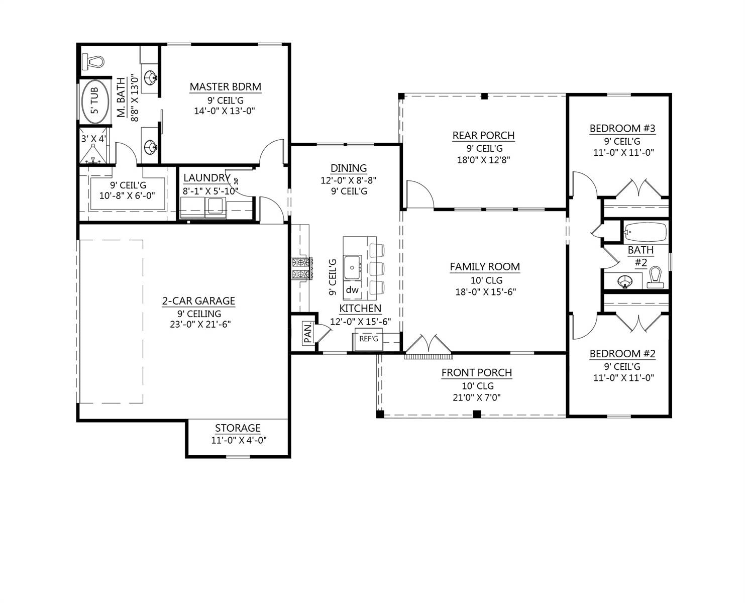 1st Floor image of The Spruce Pine House Plan