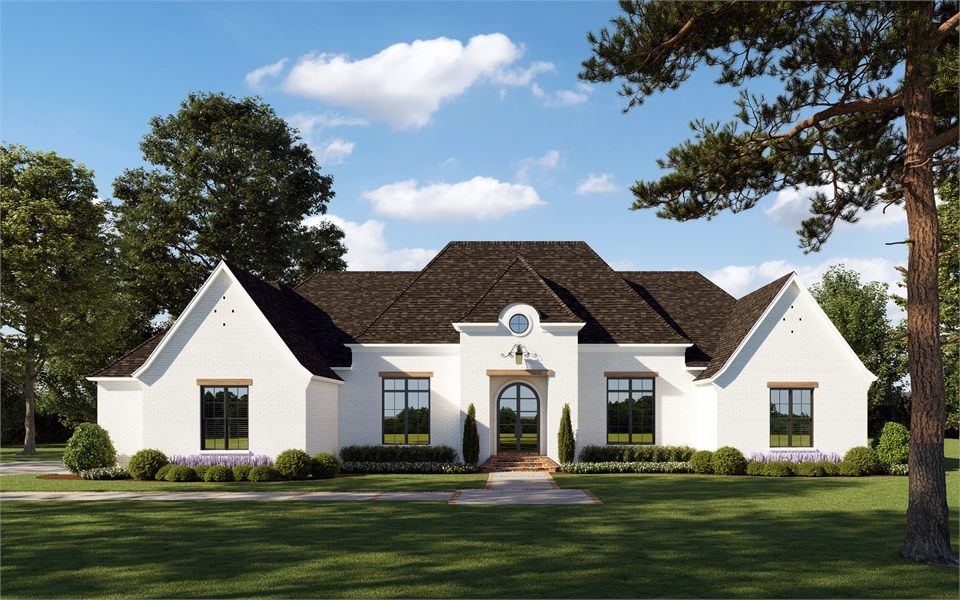 Front View image of The Cobblestone House Plan