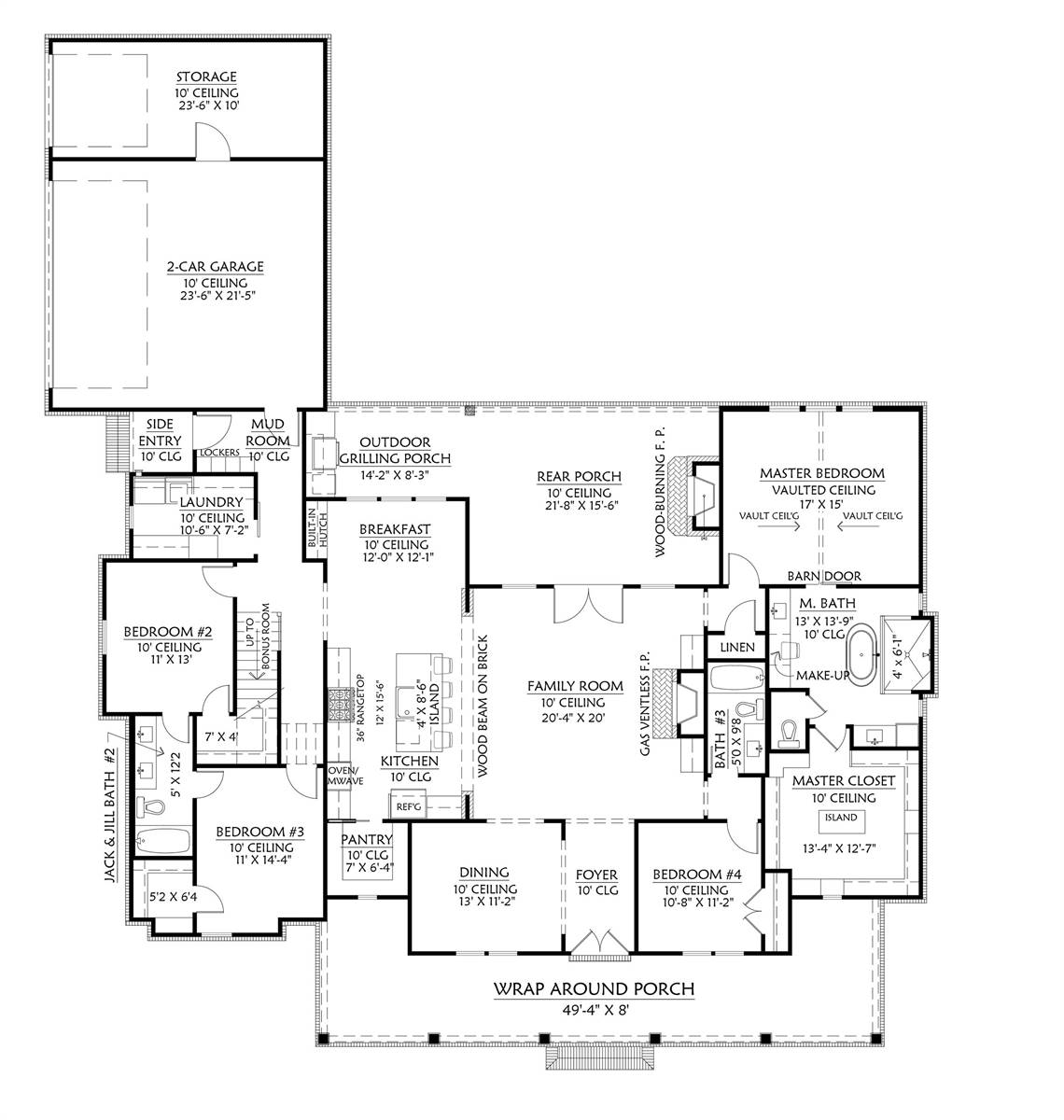 1st Floor image of Cotton Grove House Plan