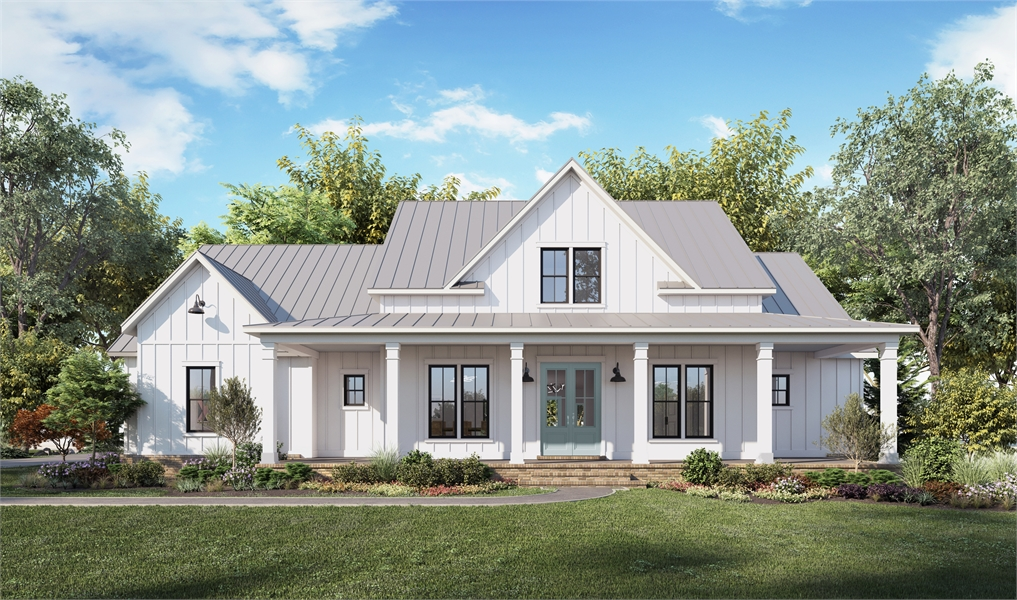 Front View image of Cotton Grove House Plan