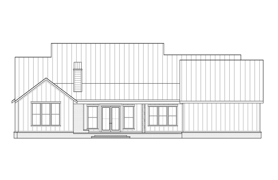 Rear Elevation image of Cotton Grove House Plan
