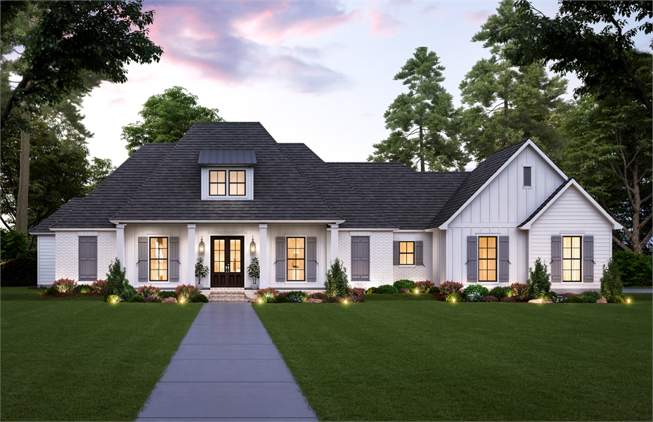 Front View image of The Sandy Ridge House Plan