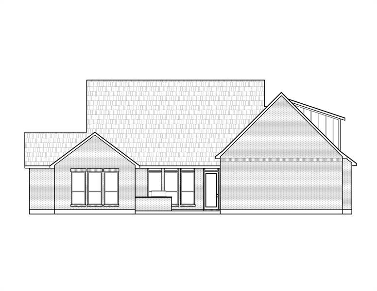 Rear View image of The Jasper House Plan