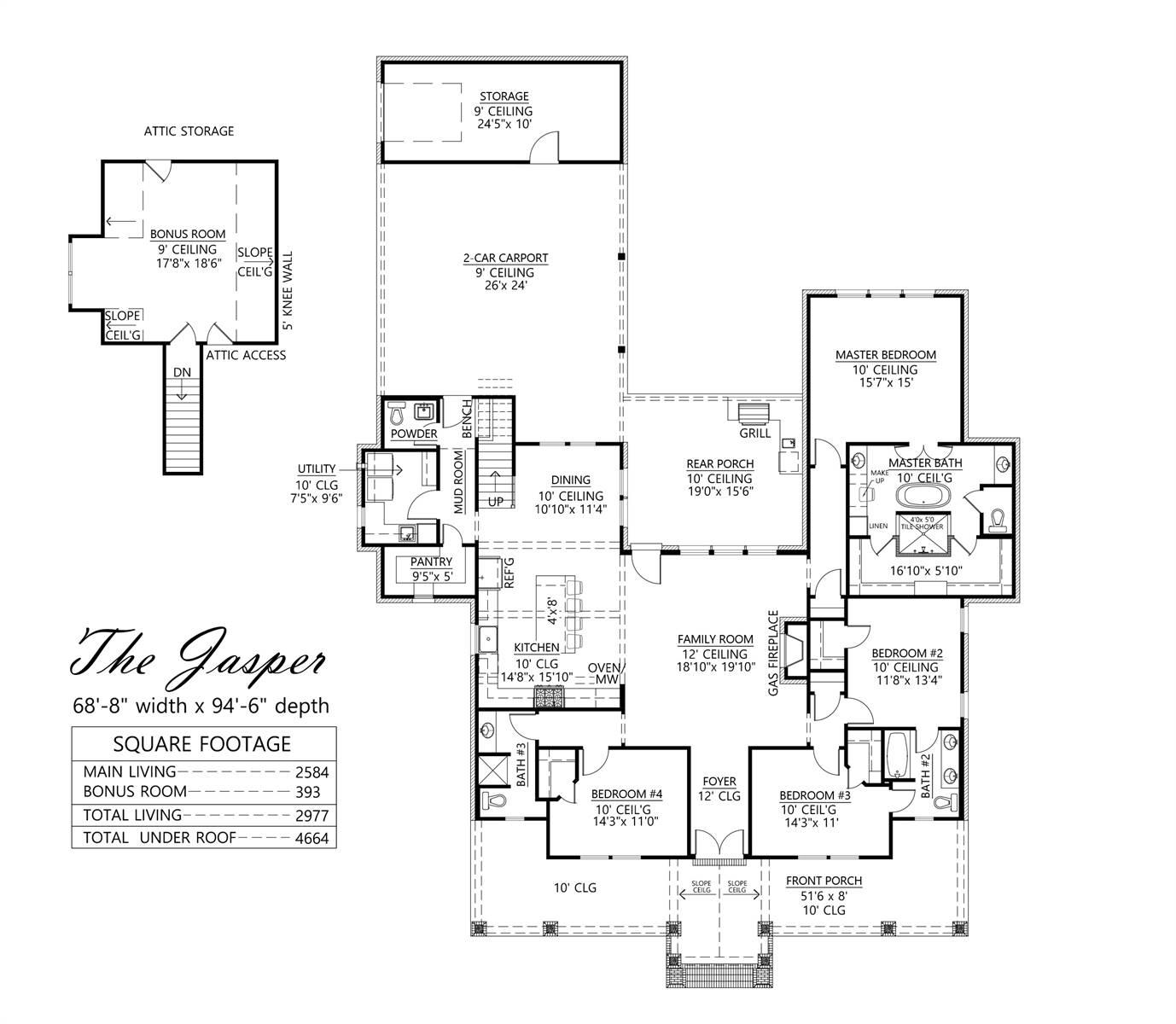 1st Floor image of The Jasper House Plan