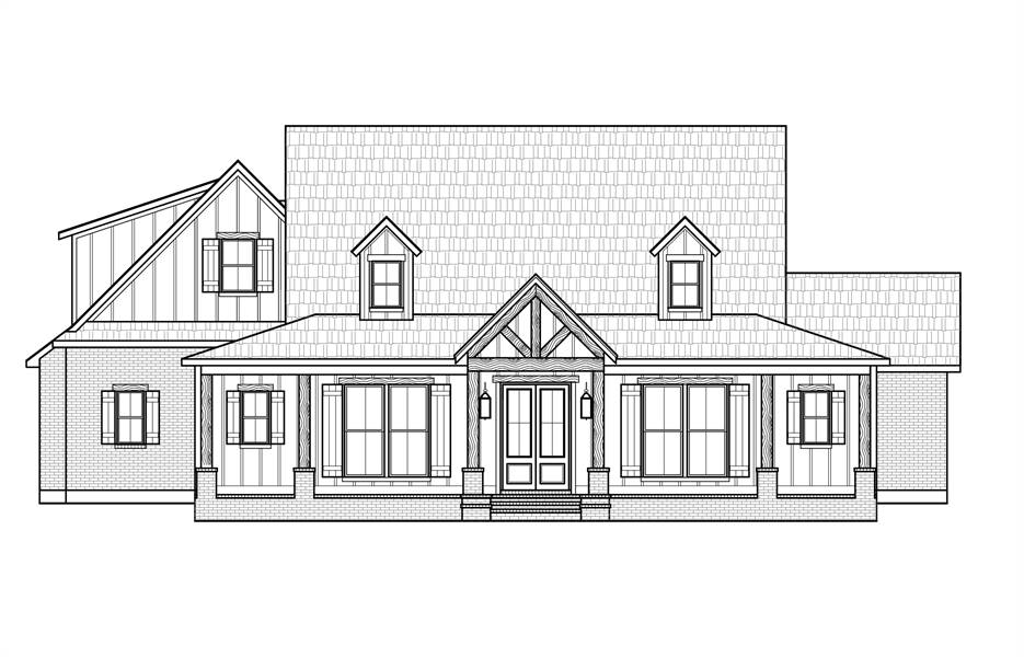 Front View image of The Jasper House Plan