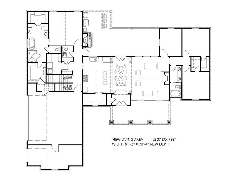 1st Floor: Basement Option