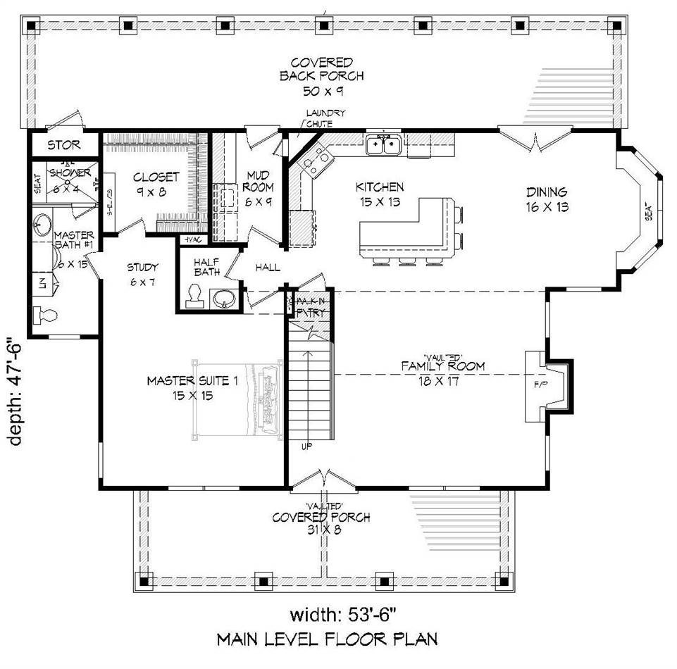 Country house plan with 3 bedrooms and 3 5 baths plan 2018 for Dfd house plans 1897