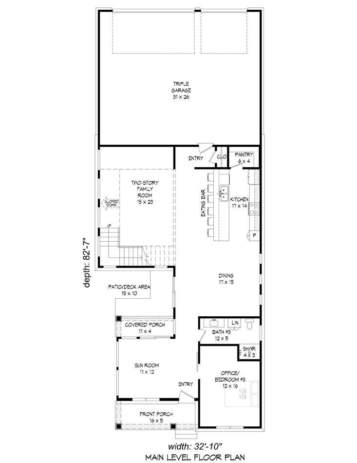 1st Floor Plan image of Allentown House Plan