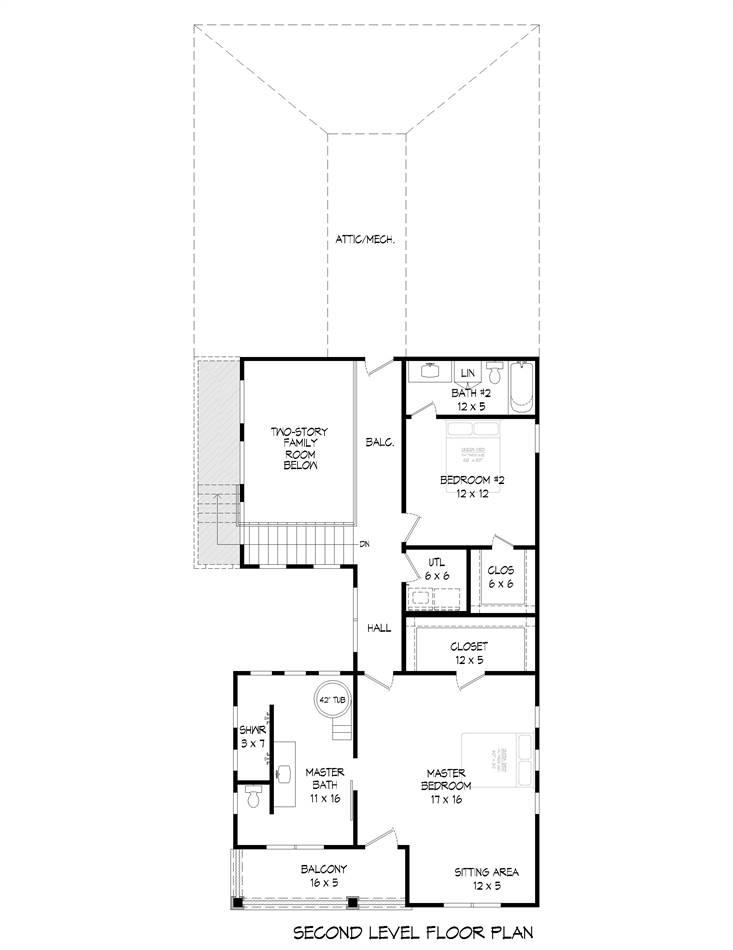 2nd Floor Plan image of Allentown House Plan