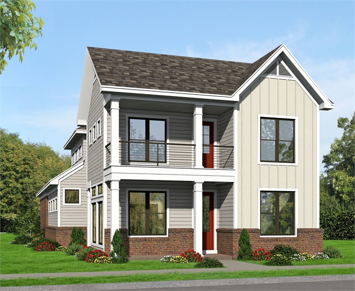 Front Rendering image of Allentown House Plan