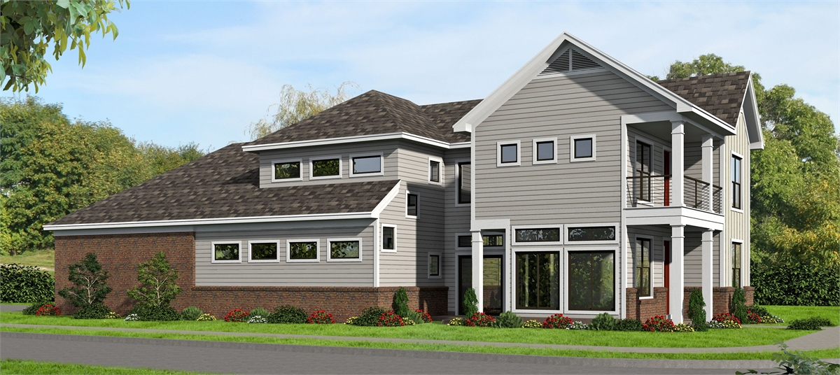 Rear Elevation image of Allentown House Plan