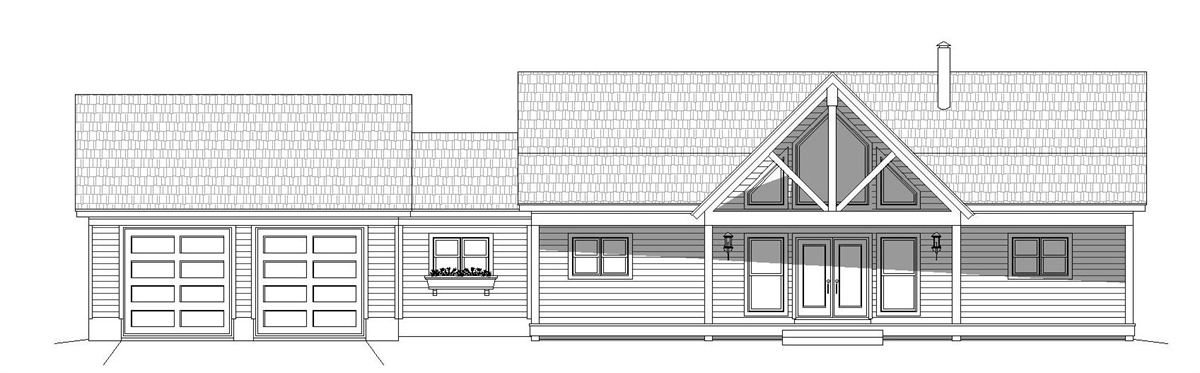 Front Elevation image of Greers  Ferry House Plan